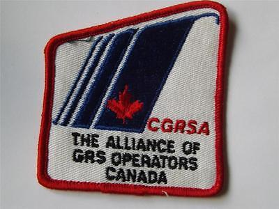Cgrsa The Alliance Of Gas Operators Canada Patch Badge Logo Advertising