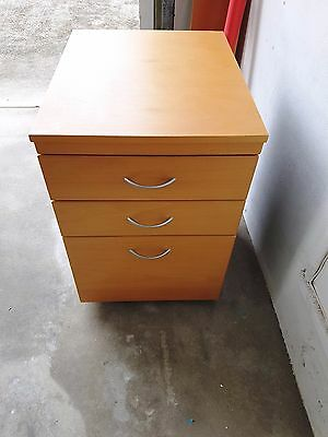 Office 3 Drawer Filing Storage Cabinet Mobile