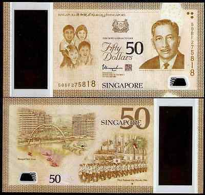 Singapore 50 Dollars, 2015, P-New, Polymer, UNC>Commemorative