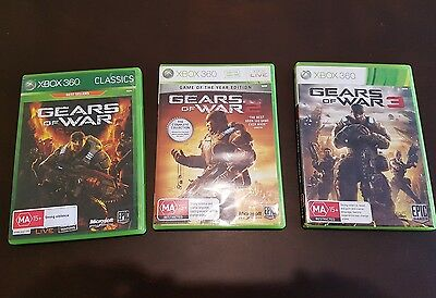 gears of war 1-3 xbox 360/one