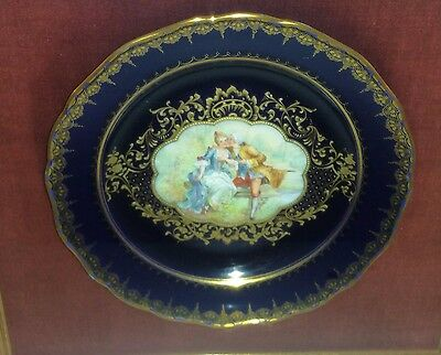 Antique Dresden Porcelain Ambrosius Lamm Plate - 19th Century Hand Painted