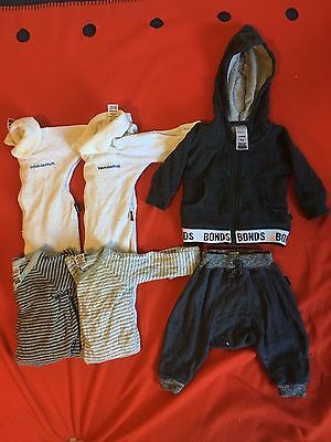 BONDS BOY 000 and 0000 BUNDLE PACK Winter ROMPERS HOODIE AND TRACKIE