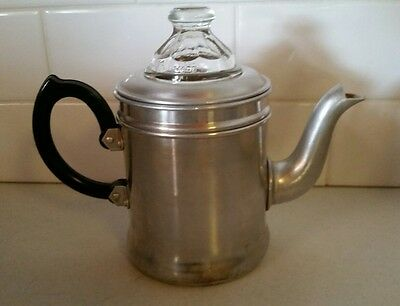 Vintage Tower Brand Aluminium Coffee Percolator Espresso Pot