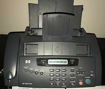 HP 1040 (Bundle) Plain Paper Fax Machine Built-In Telephone - w/ Ink - Tested