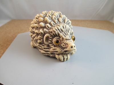 Vintage Hedgehog Figurine Made in England Unsigned Resin Estate Collectable