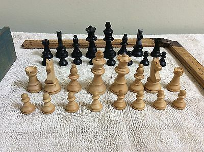 Vintage chess set cedar box with dovetail joints