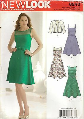 New Look Sewing Pattern 6243 Misses Jacket Dress Size 8-18