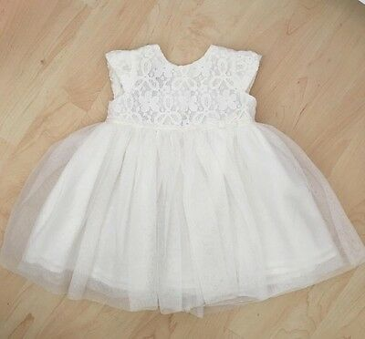 Baby Girls White John Rocha Dress In Size 3-6 Months