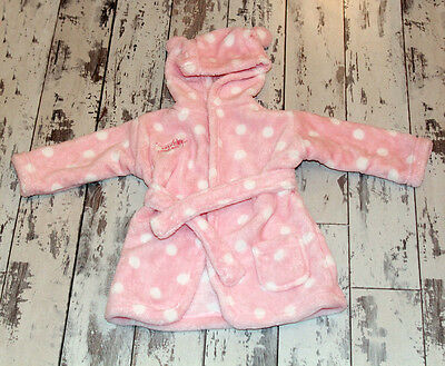 GEORGE Baby Girl Pink Dressing Gown 0-6 months