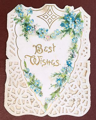 Vintage Greeting Card - Best Wishes - A Peaceful Christmas