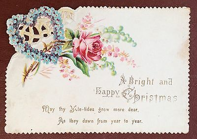 Vintage Greeting Card - A Bright And Happy Christmas by Raphael Tuck