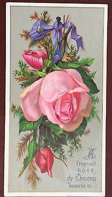 Vintage Greeting Card - As Fragrant Rose Thy Christmas Memories Be