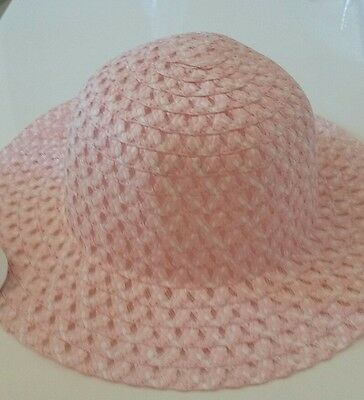 Kids Girls Beach Hats  Summer Flower Straw Hat Sun Cap pink