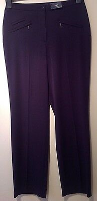 BNWT Marks And Spencer Ladies Navy Blue Trousers Size 8 Short