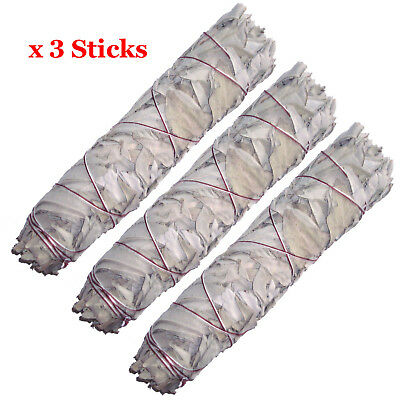 "Smudge Stick California White Sage - Extra Large / Jumbo 9"" (22cm) - Pack of 3"