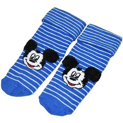 BNWT Baby Boys Licensed Mickey Mouse Socks - SIZE 00-1 (0-6 Months)
