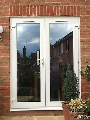Upvc double glazed french patio doors only 18 months old for Double glazed upvc patio doors