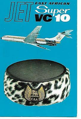 Airline issue postcard-EAA East African Airways VC10 aircraft