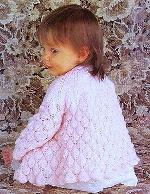 BABY KNITTING PATTERN 3 or 4 ply MATINEE COAT 2 SIZES