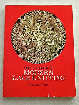SECOND  BOOK of  MODERN  LACE  KNITTING ~ 117 Pages ~ 1972 ~ Dover SC Book