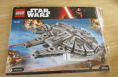 Lego Star Wars Set 75105- Millennium Falcon Instruction Manual Only - New