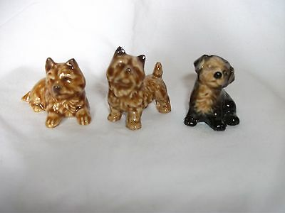 3 x Wade Pottery Terriers, Yorkshire