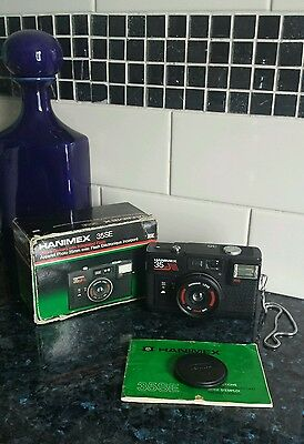 Hanimex 35SE Camera 35mm with Intergrated Flash with Box & Instructions Used.