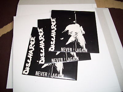"DISCHARGE never again 7"" uk82 punk varukers chaos uk disorder UNPLAYED ORIGS"