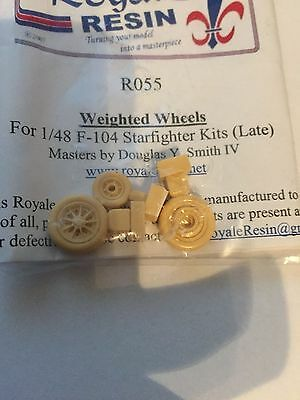 F-104 Starfighter Late Weighted Wheels Royale Resin R055 1/48
