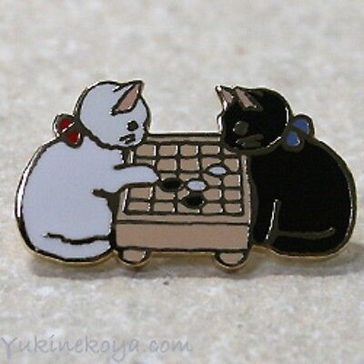 Cat kitten cloisonne ware pins pin badge Japanese traditional  chess game Igo