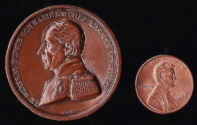 Swiss Medal 1847 General Dufour Commander in Chief Suisse Federal Army (A.Bovy)