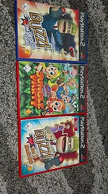 3 Playstation 2 Spiele Buzzer, Jungle Party