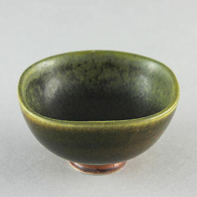Berndt Friberg (1960s) Unique Green Miniature Bowl