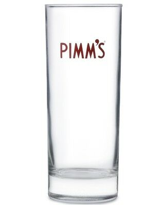 Pimm's 12oz High Ball Glasses With Pimms Stirrers New X 6