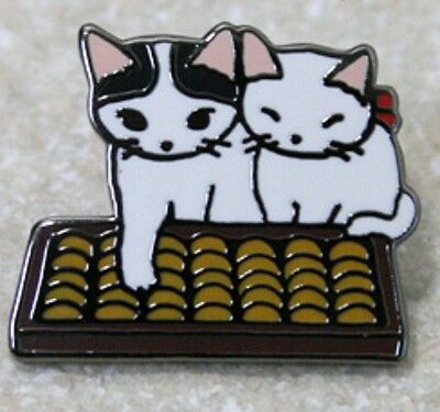 Cat kitten cloisonne ware pins pin badge Japanese traditional calculator abacus