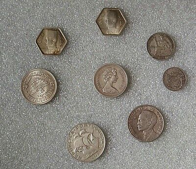 Silver coins - LOT  - totally varied mix sold at about current scrap value