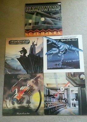Hawkwind Job Lot Collection 5 Lp Vinyl Records In Excellent Condition
