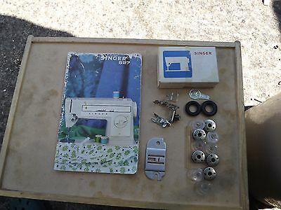 Singer Sewing Machine 527 Instructions Book And Box Of Parts