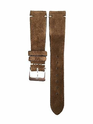 20mm Vintage Honey Brown Italian Suede Handmade Leather Watch Strap Band