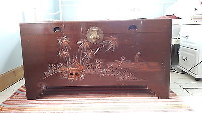 Vintage Camphor Wood Chest from Malaysia c1960