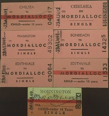 Edmondson Rail Tickets - Single to Mordialloc From Various Locations
