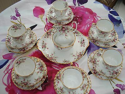 RARE ROYAL ALBERT COTTAGE GARDEN 21 PIECE TEA SET 1st QTY MINT CONDITION