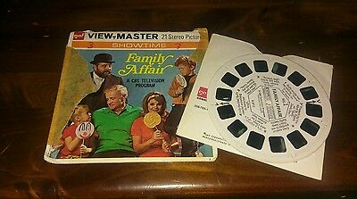 gaf view master 21 stereo pictures family affair slides