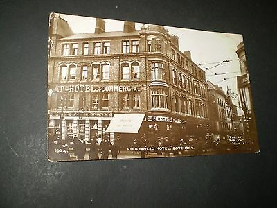 social history COVENTRY KINGS HEAD HOTEL  rp photo postcard