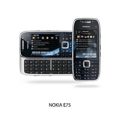 Nokia E75 - Silver black (Factory Entsperrt) Smartphone 'WI-FI QWERTY USED