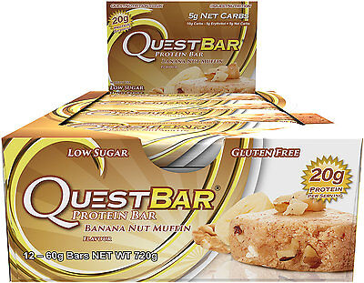 Box of 12x Banana Nut Muffin Quest Bar Nutrition Protein