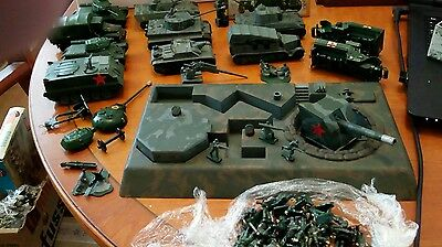 Airfix HO-00 scale,WW2 bunker,vehicles and soldiers