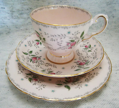 Vintage Tuscan Fine Bone China High Tea Trio Set Tea Cup Saucer Cookie England