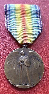France French WWI 1914 - 1919 Inter-Allied Victory Rare PAUTOT Medal order badge
