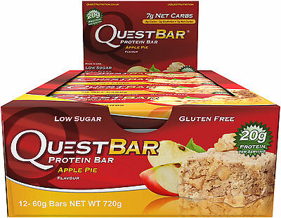 Box of 12x Apple Pie Quest Bar Nutrition Protein
